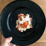 柿とカッテージチーズの美肌和え物